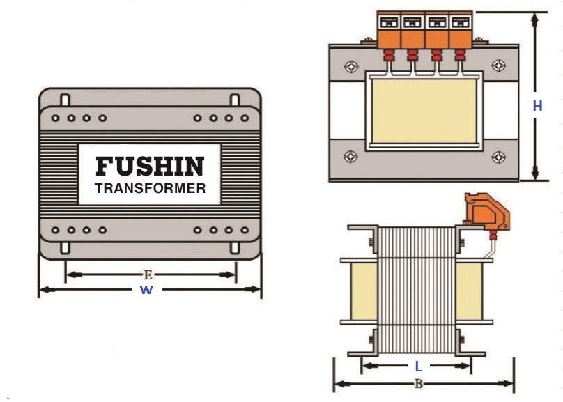 Biến áp cách ly 380V/220V - 50VA (0.3A)